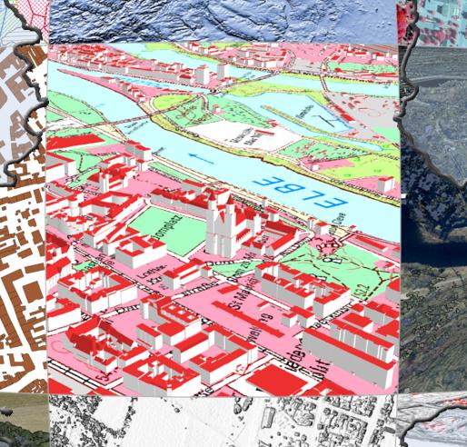 """Abbildung 1: Ausschnitt aus dem Plakat zur Einführung """"Kostenfreie Geodaten"""" in Sachsen-Anhalt © GeoBasis-DE / LvermGeo LSA"""