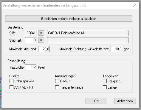 """Abbildung 2: mit der Funktion """"externe Gradienten"""" können Gradienten anderer Achsen für den Gradientenentwurf angeschaltet werden"""
