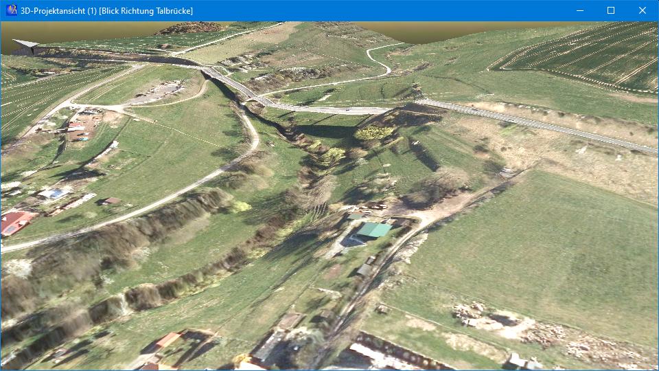 """Abb. 2: DGM in der 3D-Ansicht mit unbearbeitetem Orthofoto (Quelle der Geodaten: © GDI-Th,<a href=""""http://www.govdata.de/dl-de/by-2-0"""" target=""""_blank"""" rel=""""noopener"""">dl-de/by-2-0</a>)"""