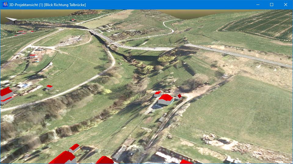 """Abb. 3: 3D-Ansicht mit Orthofoto auf DGM und Gebäuden aus CityGML-Dateien (Quelle der Geodaten: © GDI-Th,<a href=""""http://www.govdata.de/dl-de/by-2-0"""" target=""""_blank"""" rel=""""noopener"""">dl-de/by-2-0</a>)"""