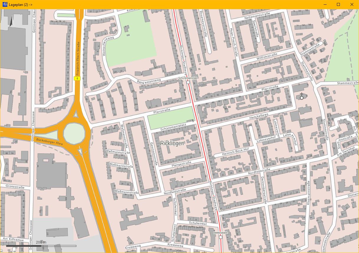 """Abbildung 2: """"WebAtlasNI"""" mit Straßennamen, Gebäudeumringen und Hausnummern"""